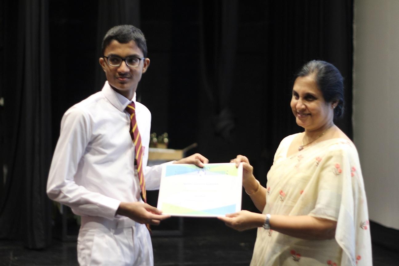 Vice Chancellor, UoC Prof. C. Wijeyaratne to A. Bandara (Kuliyapitiya CC) - APMO 2020 HM
